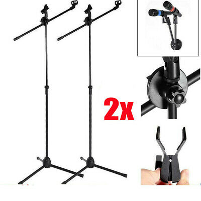 2X 360°Professional Boom Microphone Mic Stand Holder Adjustable With Free Clips • 15.99£