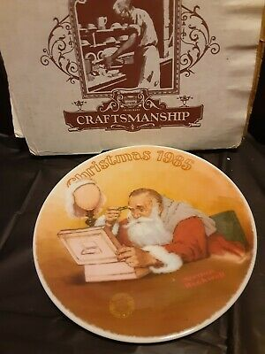 $ CDN19.33 • Buy 1985 Norman Rockwell  Grandpa Plays Santa  Collertor's Plate