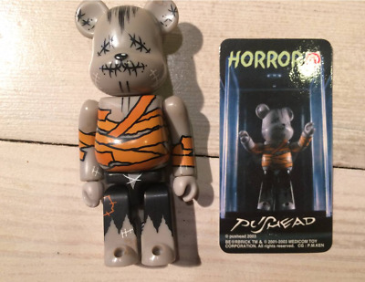 $134 • Buy BE@RBRICK Series 6 Horror Pushead 2003 Mini Bearbrick Medicom Toy With Card