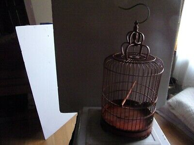 $39.99 • Buy Bamboo Round Bird Cage For Home Decor Size20 By   No Water Or Feeder