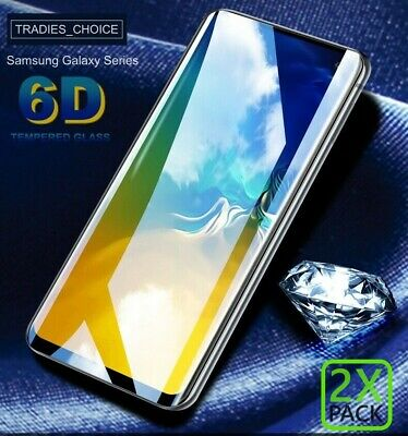 AU9.99 • Buy  2xFULL Tempered Glass 6D For Samsung Galaxy S9/8 Plus Note 9 8 Screen Protector