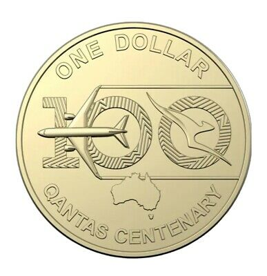 AU4.09 • Buy 2020 Qantas Centenary $1 Dollar UNC COIN 100 Years AUSTRALIA Ex From Mint Bag