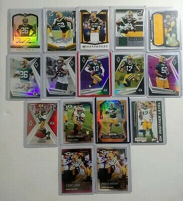 $ CDN50 • Buy Green Bay Packers 16 Card Lot Autos Game Used Serial # Rookie Mint Rodgers Adams