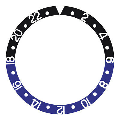 $ CDN26.63 • Buy Bezel Insert For Rolex Gmt Master Ii 16700, 16710, 16760 Black/blue Batman
