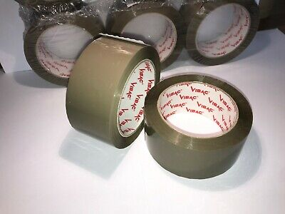 £9.99 • Buy Vibac 48mm X 66metres Brown Tape 801 Low Noise Strong Hold Parcel Packaging