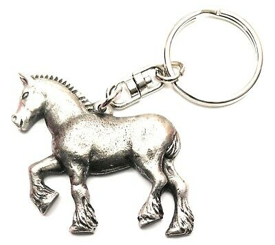 Shire Horse Pewter Hand Crafted In UK Key Ring In Gift Pouch • 6.99£