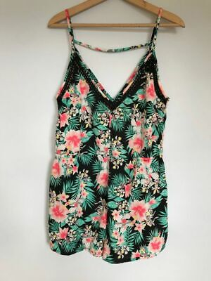 New Peacocks Ladies Floral Playsuit Size 12 Summer Holiday Beach • 6£