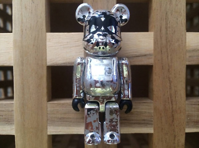 $157 • Buy BE@RBRICK 100% Psyche Bandit Pushead Bearbrick Silver Version Medicom Toy
