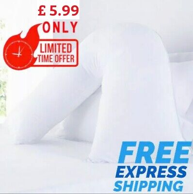 Orthopaedic Back & Neck Support V Shaped Pillow • 6.99£