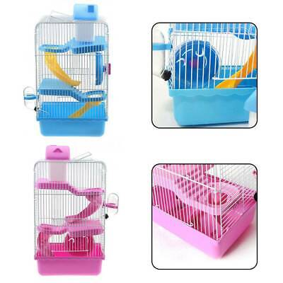 3 Storey Hamster Cage Pet Mice Rat Gerbil Play House -Water Bottle Wheel Ladder • 9.49£