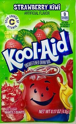 24 Strawberry Kiwi Kool-Aid Drink Mix Gluten Free Unsweetened Exp 2021 BB • 6.07£