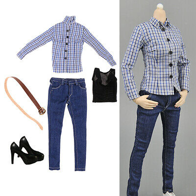 $22.97 • Buy 1/6 High-heeled Shoes Jeans Set For Hot Toys Enterbay Action Figure Dolls