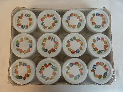$15.95 • Buy Kerr Decorated Jam & Jelly Jars 4oz. Each 12 Jars   Still Wrapped In Plastic