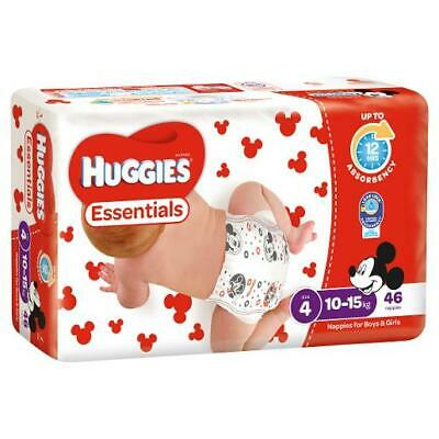 AU15.50 • Buy Brand New Huggies Essentials Toddler Size 4 Nappies 46 Pack