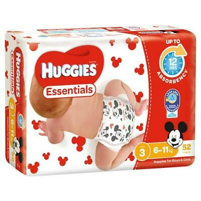 AU15.50 • Buy Brand New Huggies Essentials Crawler Size 3 Nappies 52 Pack