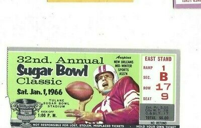 $66.99 • Buy 1966 Sugar Bowl College Football Ticket Stub Missouri Tigers V Florida Gators