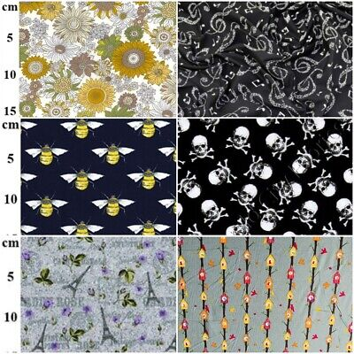 100% Cotton Poplin Fabric - Large Design Choice - Sold By The Metre • 7.49£