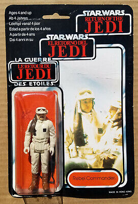 $ CDN329.54 • Buy Star Wars REBEL COMMANDER TRI LOGO Vintage Carded MOC Palitoy 1983 WRONG WEAPON