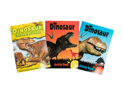 Dinosaur Activity Book A4 Childrens Kids Puzzle Dot To Dot Colouring Book • 2.09£