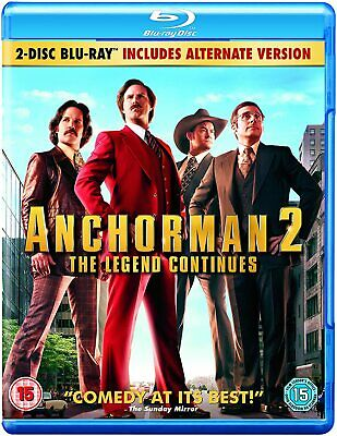 Anchorman 2: The Legend Continues Blu-ray DVD -Brand New- Fast And Free Delivery • 1.49£