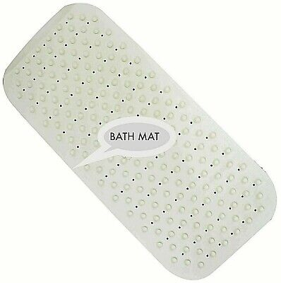 Extra Long Soft Rubber Bath Shower Mat  Strong Grip Suction Non-Slip Anti Fall  • 7.76£