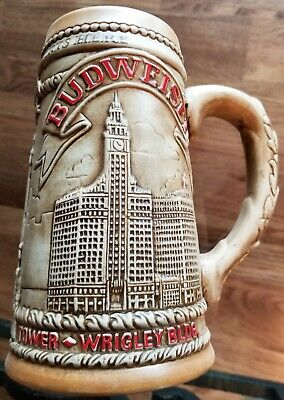 $ CDN26.18 • Buy EXC 1981 BUDWEISER Beer Stein CHICAGO WRIGLEY BUILDING WATER TOWER MARINA CITY