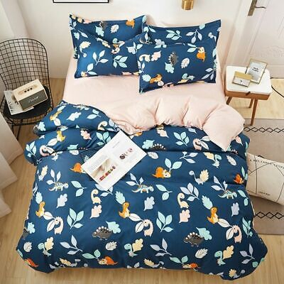 Playful Cotton Duvet Cover Pillow Cases Bedding Set King Size Flat Sheet Animate • 47.24£