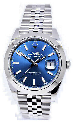 $ CDN12423.59 • Buy Rolex Datejust 41 Steel Blue Dial Jubilee Bracelet Watch Box/Card 126300