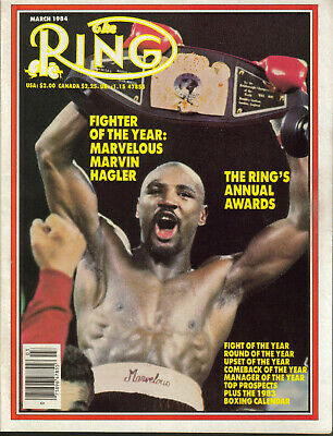$5.99 • Buy The Ring Boxing Magazine Marvin Hagler Fighter Of The Year March 1984 Duran Plus
