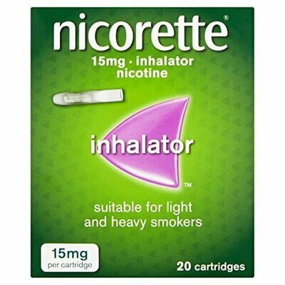 BEST Inhalator 15 Mg 20 Cartridges Stop Smoking Aid Use 15 Mg Inhal ONLY 2 LEFT • 19.96£
