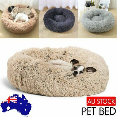 AU33 • Buy Pet Cat Dog Calming Bed Warm Soft Plush Round Nest Comfy Sleeping Kennel Cave AU
