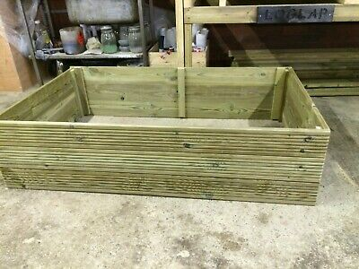 Wooden Raised Bed Vegetable Garden Planter Tanalised Decking 3ft 4ft  • 38£