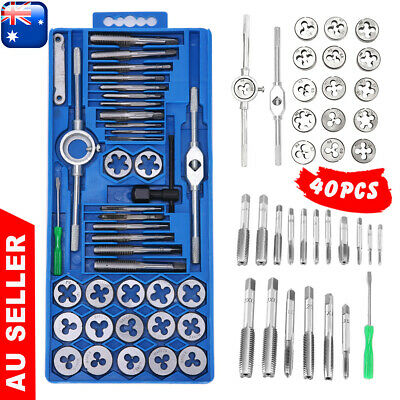 AU27.95 • Buy 40pcs Screw Thread Tap And Die Set Tool Metric Carbonsteel Heavy Duty Universal