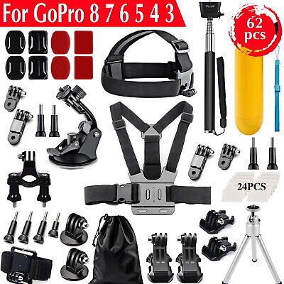 AU22.50 • Buy Accessories Pack Kit Head Chest Monopod Bike Surf Mount For GoPro 8 7 6 5 4