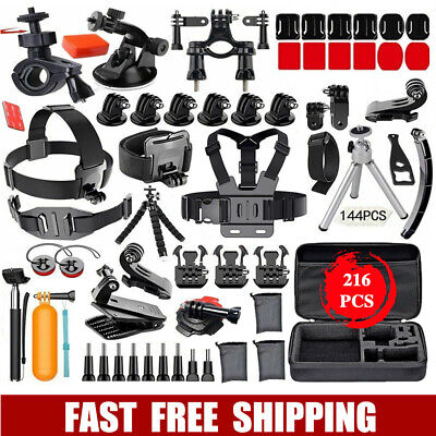 AU33.50 • Buy Accessories Pack Kit Head Chest Monopod Bike Surf Mount Case For GoPro 8 7 6 5 4