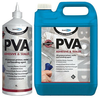 Bond It PVA Adhesive And Sealer Primer Glue Bonding Agent P.V.A. General Purpose • 6.99£