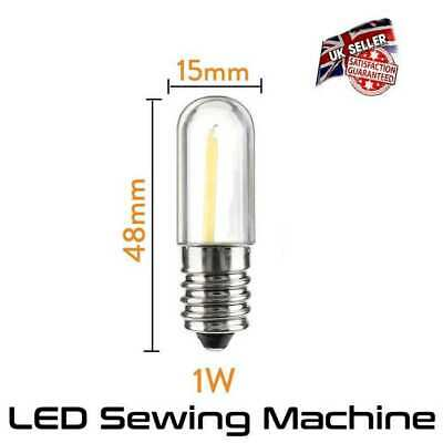 AU6.15 • Buy LED Sewing Machine Lamp 1 Watt Equiv To 10 Watt - Small Screw E14 *UK Seller*