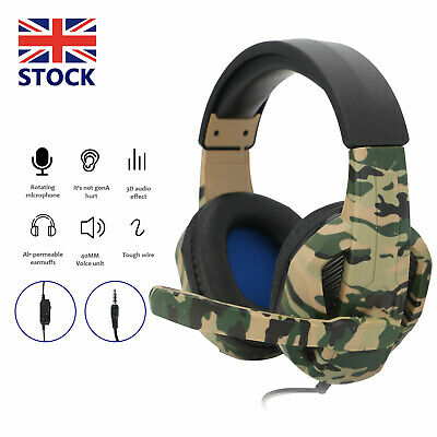 £11.99 • Buy Gaming Headset For PC Xbox One PS4 Nintendo Switch 3.5mm Headphones With Mic UK