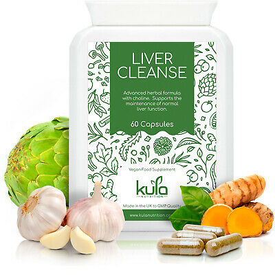 £15.99 • Buy Liver Cleanse Herbal Detox - 60 Vegetarian Capsules - Strong Natural Complex