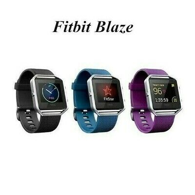 AU92.81 • Buy Fitbit Blaze Fitness Smart Watch Activity Tracker Plum, Blue, Black, Small Large