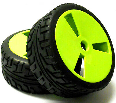 180015 1/8 Scale On Road Buggy RC Wheels And Tyres Disc Light Green X 4 • 19.94£