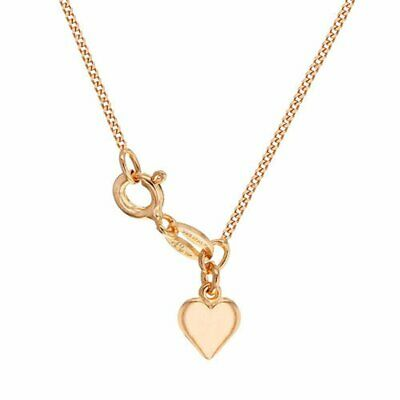 TJC Curb Chain Necklace Rose Gold Plated Sterling Silver Size 18  • 11.99£