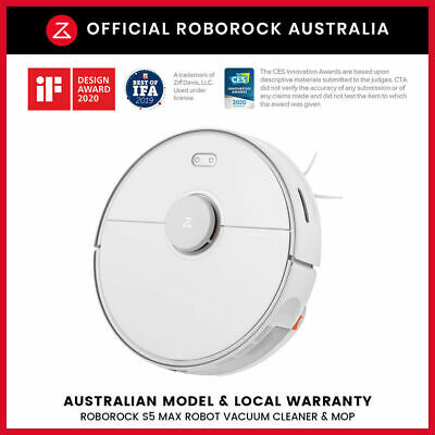 AU999 • Buy BRAND NEW Roborock S5 Max Smart Robot Vacuum & Mop Cleaner 2020 Aus Model
