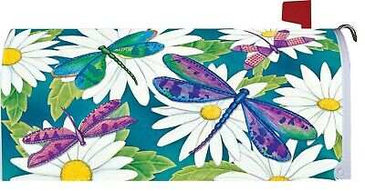 $18 • Buy Dragonfly Daisy Flower Magnetic Mailbox Cover