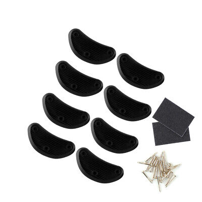 £6.37 • Buy Shoes Boots Rubber Sole Heel Repair Pad Guard Plate Mat Tap Black 4 Pairs