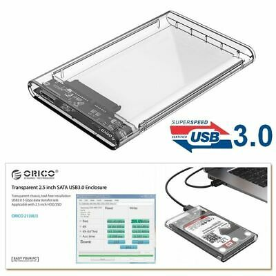 £5.69 • Buy USB 3.0 To SATA Enclosure Caddy Case For Hard Drive 2.5  Inch HDD / SSD UK