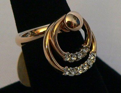 $19 • Buy Park Lane Retired Circles Of CZ's Spinner Ring - Pretty & Unique!  Size 7