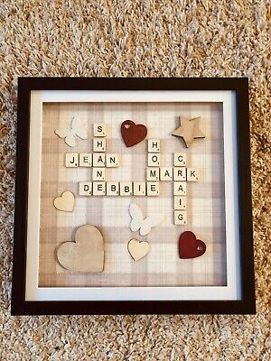 Personalised Family Scrabble Picture • 30£