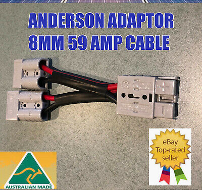 AU18.79 • Buy  Anderson Style Plug 50 Amp Connector Double Y Adaptor 8mm Twin Auto Cable