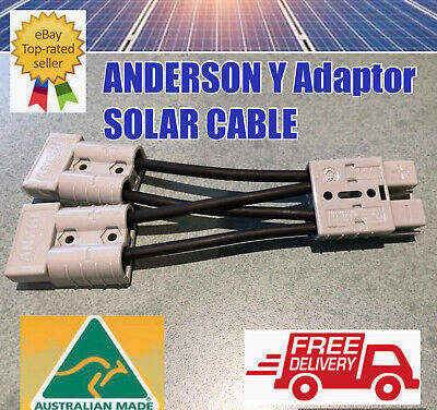 AU15.97 • Buy  6 MM Solar Cable  Anderson Style Y Plug 50 Amp Connector Double Y Adaptor 4X4